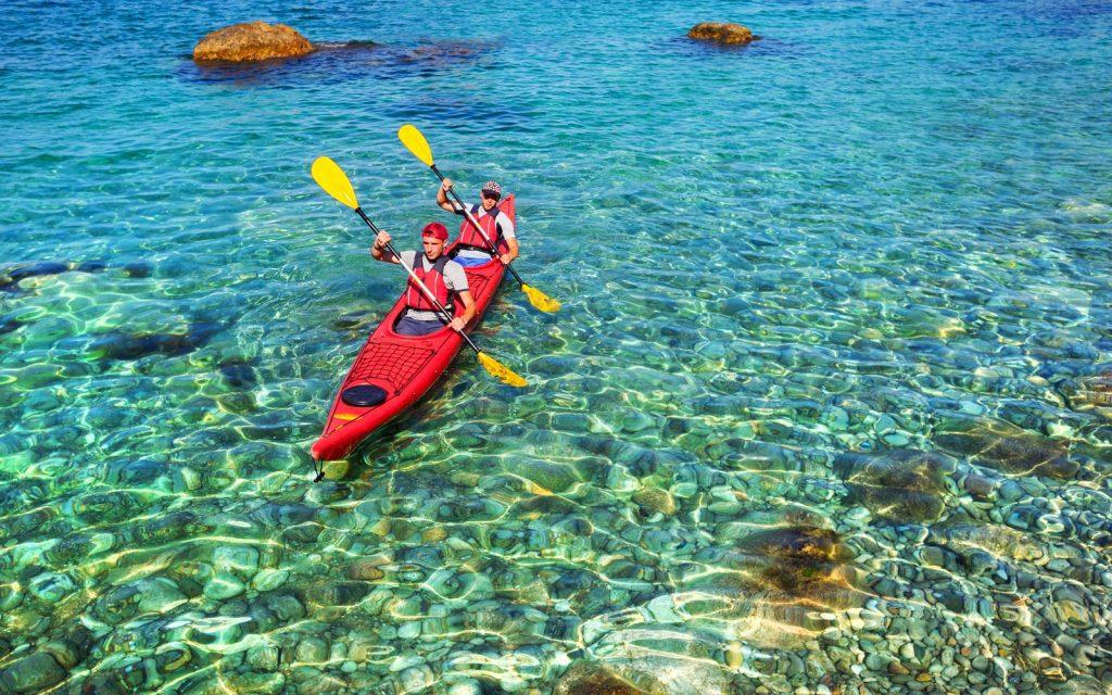 maldives kayak crystal waters